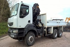 Renault Kerax 6X6 with Hiab Crane