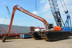 Hitachi Amphibious excavator